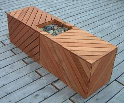 An Outdoor Deck Bench