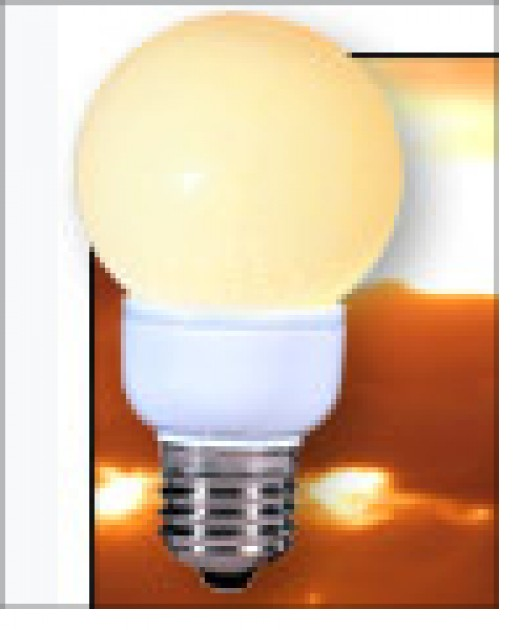 This is another LED it is much less expensive than a GeoBulb but it is only equivalent to a 30 or 40 watt bulb- of course it uses under 7 Watts so there is a big power savings.