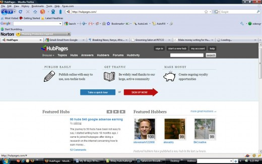 My first ever featured hubs in the front page of Hubpages Website