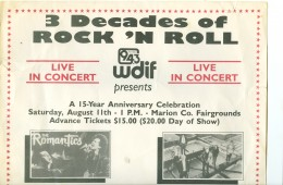 One half of the banner advertising at the Heart of Ohio jam August 11th 1990