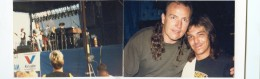 Mark Farner common ground band at the Heart of Ohio jam August 11th 1990/Mark and I on the bus