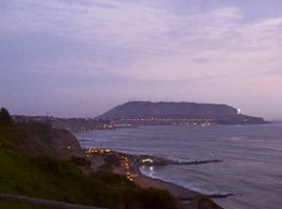 View of the Morro Solar from Miraflores