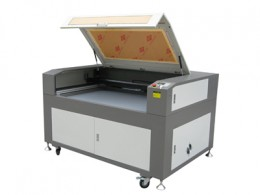 A laser engraving machine.