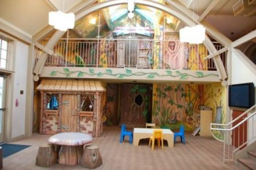 Treehouse playroom