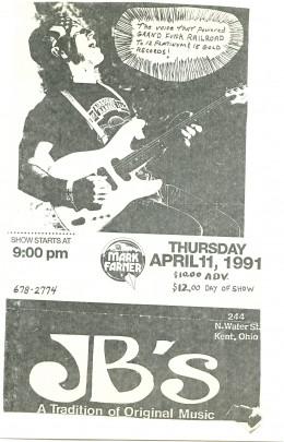 Mark Farner-JBs Lounge,Kent,Ohio,April 1991