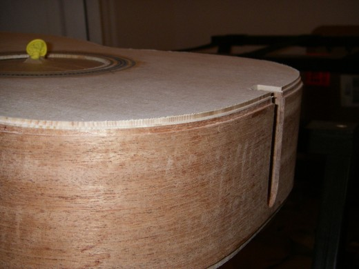 A picture of the finished binding AND purfling channels.