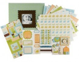 A scrapbook album kit includes everything but the photos!
