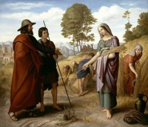Julius Schnorr von Carolsfeld: Ruth im Feld des Boaz, 1828.