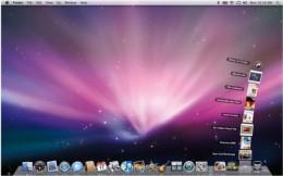 an example of a Mac desktop with dock