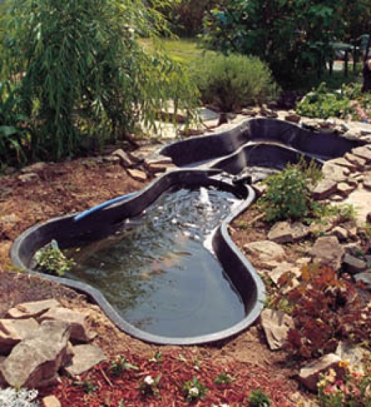 Large preformed pond liners Large preformed ponds