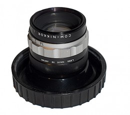This rare COM-Nikkor 37mm F1.4 lens used to record computer images to micro film.