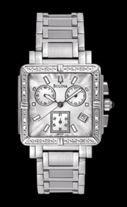 Bulova Diamond Chronograph Square