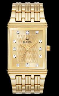 Bulova Diamond Gold Plated