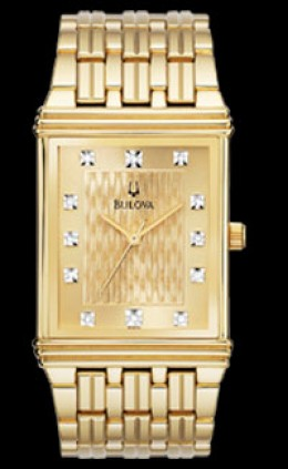 Bulova Diamond Gold Plated