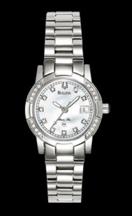 Bulova Marine Star Ladies Mother-of-pearl Diamonds