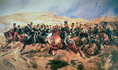 "Half a league, half a league, half a league onward -- All in the valley of Death rode the six hundred. ""Forward, the Light Brigade! Charge for the guns!"" he said: Into the valley of Death rode the six hundred. - Alfred, Lord Tennyson  (public domain)"