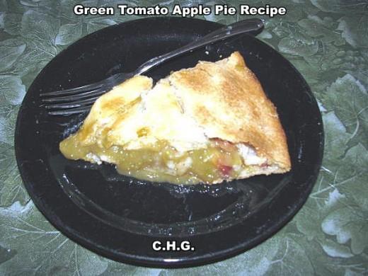 Delicious Green Tomato Apple Pie