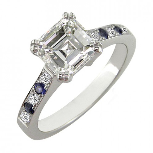 asscher cut diamond rings for engagement and weddings