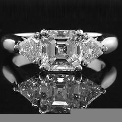 asscher diamond rings for engagement