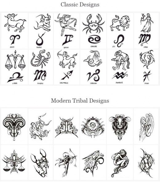 Tattoo Designs of Zodiac Signs. Here are some other zodiac related ideas: