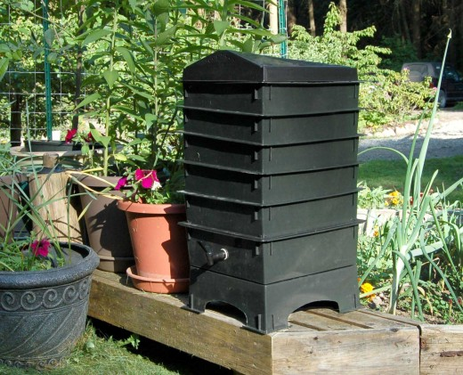A vermicompost bin from wormswrangler.com/