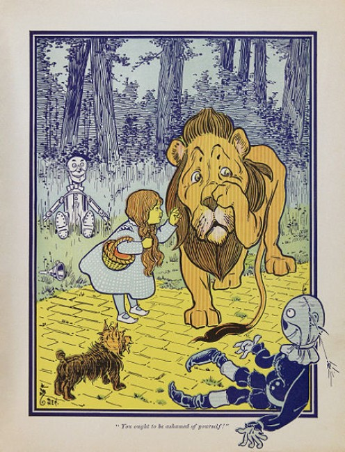 The Cowardly Lion from The Wizard of Oz was truly brave.