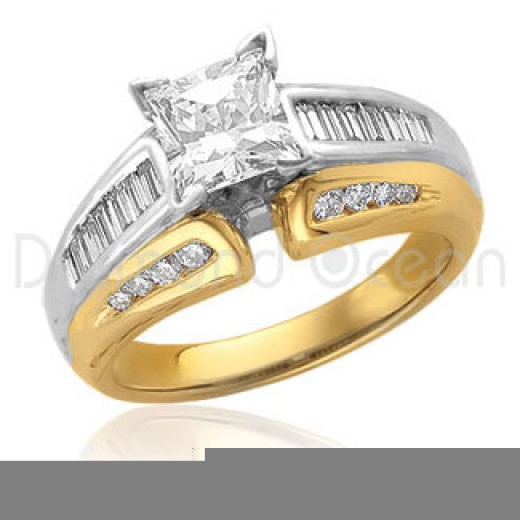 White and yellow god mixed diamond  rings for your wedding and engagement parties