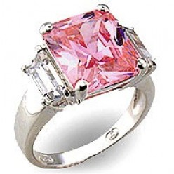 Pink Diamond Engagement and Wedding Rings for the Bride