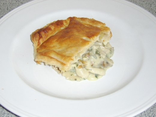 Turkey and Mushroom Pie Serving