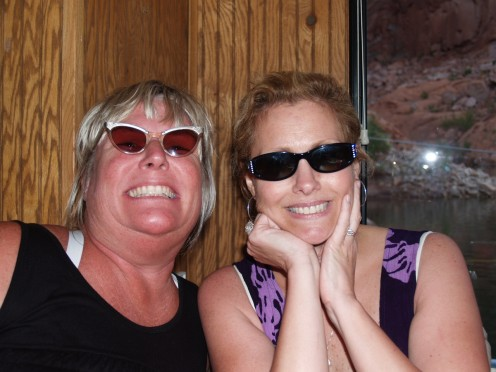 Diana & I, at Lake Powell last Summer. After a long day on the lake.  And of course, at our best!