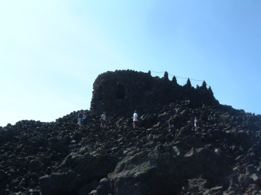 The Dee Wright Observatory is made entirely from lava rock