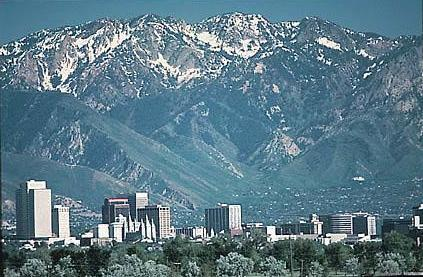 Salt Lake City. (Photos this page, public domain.)