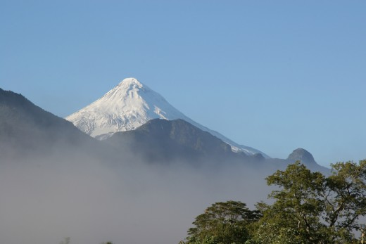 Lanin Volcano - One of the most climbed summit in Argentina.