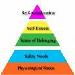 Maslow's Hierachy, or Pyramid of Needs.  by factiva.com
