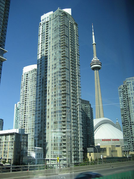 Rogers Centre and the CN Tower.