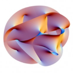 Now while this isn't a picture of an atom it represents another theory called the string theory.