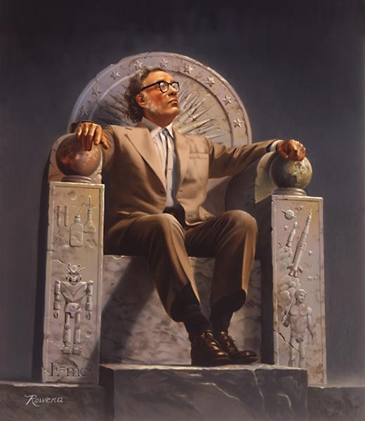 Rowena Morrill's portrait of Asimov