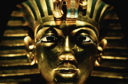 Golden mask of Tutankhamon.  Photo by Steve Evans courtesy of Wikimedia Commons