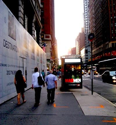 Mad Men advertising near Madison Avenue, New York City / E. A. Wright 2009