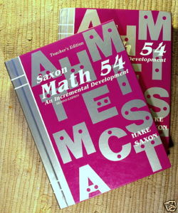 The program utilizes the Saxon Math Series textbooks for the mathematics subject through Calculus.