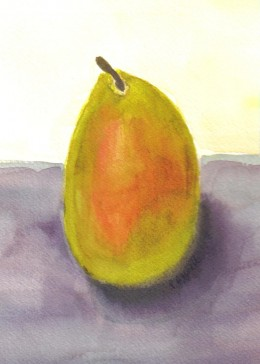 Pear by Paula Atwell is available in print form from http://zazzle.com/lakeerieartists