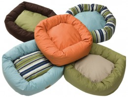 Dog beds come in many styles and colors.