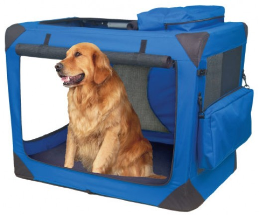 Soft dog crates are easy to store and carry.
