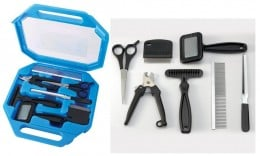 A dog grooming kit contains the basic tools grooming at home.