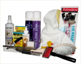 Dog care supplies are essential to your pet's health.
