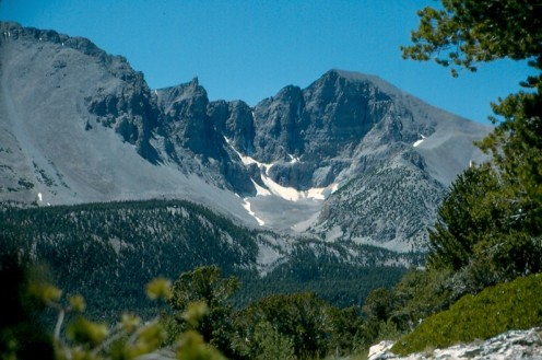 Wheeler Peak dominates the scenery of Great Basin National Park, Nevada.