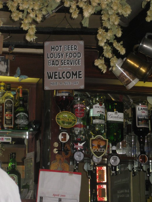 Sign inside The Good Intent, Puttenham
