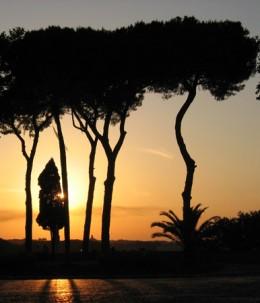 Sun setting over the Janiculum.