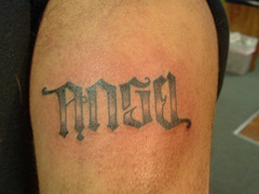 Angel Devil Tattoos Ambigrams