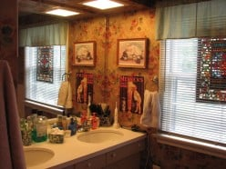 The sink area...functional but so pretty to look at when getting ready in the morning